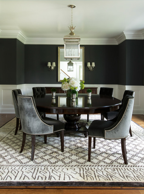 When To Use Black In The Dining Room