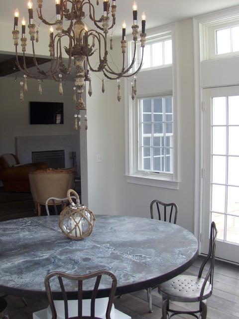 New Canaan custom farmhouse - interiors farmhouse-dining-room