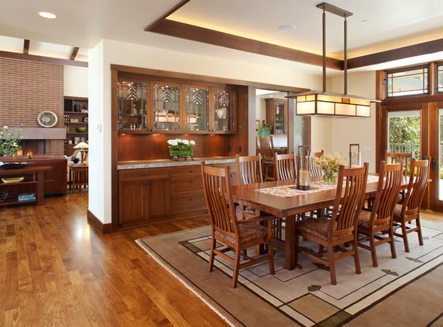 ca craftsman dining room san diego by dawson design group