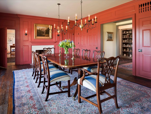 New country house chester county pa farmhouse dining room philadelphi - Farrow and ball marais ...