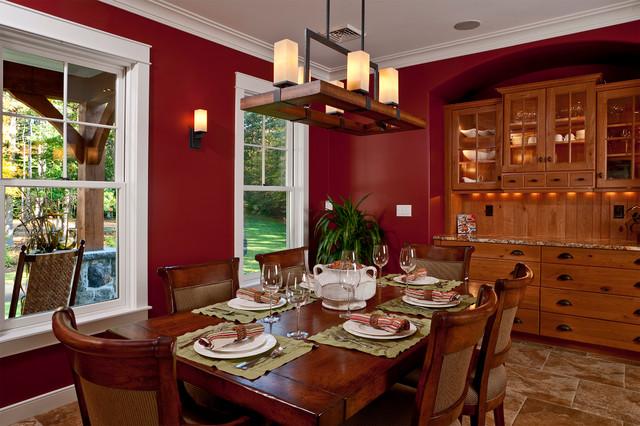New custom maine home traditional dining room - Bedroom furniture portland maine ...