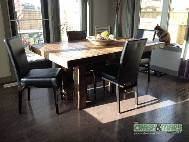 New dining room table made from old pallets. Total cost $27 traditional-dining-room