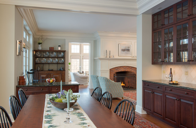 New england colonial traditional dining room boston for New england dining room ideas