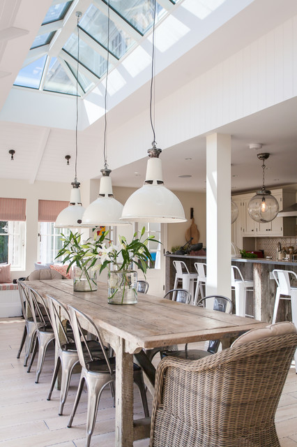 New England Style Home West Sussex Coastal Dining Room