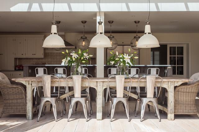 Sala Da Pranzo Shabby Chic : New england style home west sussex shabby chic style sala da