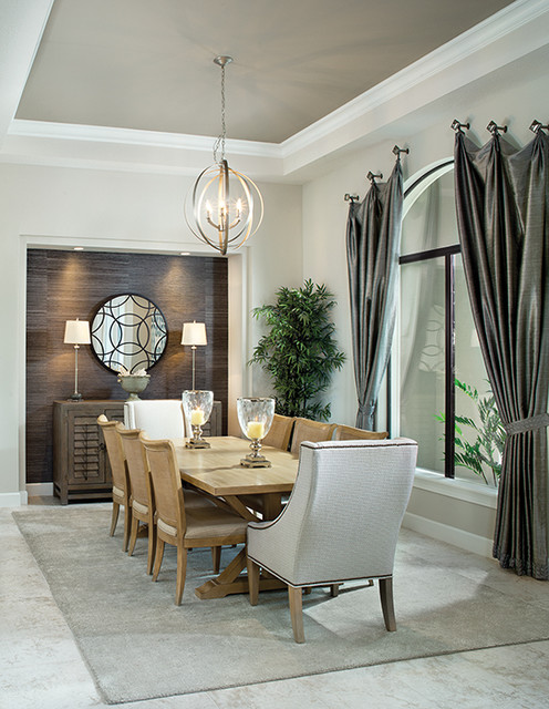 New florida model home transitional dining room for Model home dining room