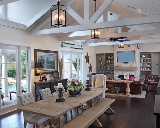 Rustic open floor plans home design photos decor ideas for Rustic open floor plans