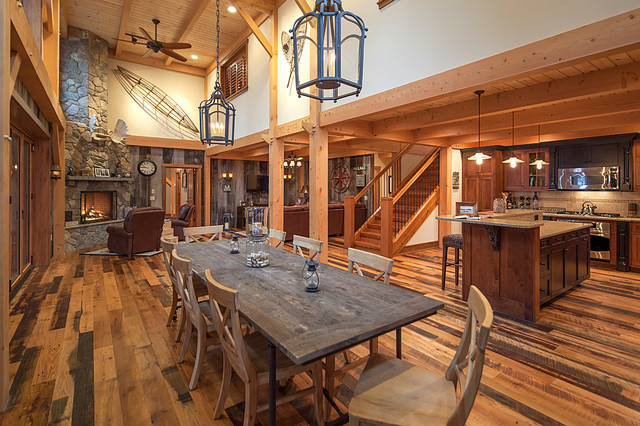 New Hampshire Lake House Rustic Dining Room