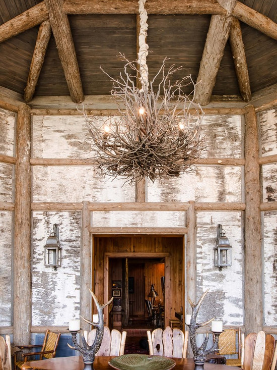 Birch bark home design ideas pictures remodel and decor Log cabin chandelier