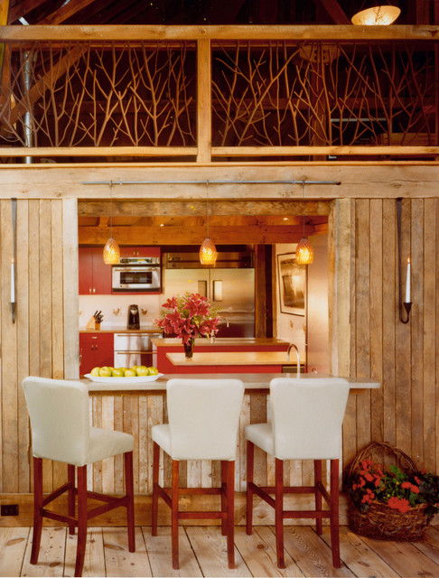 New River Bank Barn traditional-dining-room