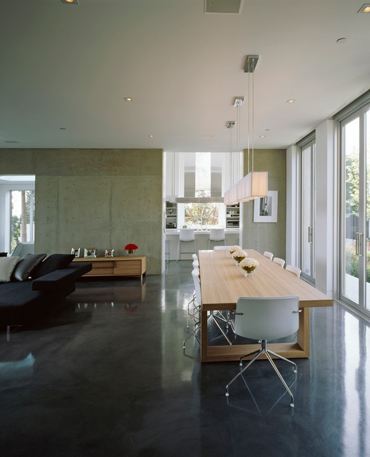 New Single Family Home contemporary-dining-room
