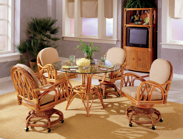 New Twist Dining Set Beach Style Dining Room Raleigh
