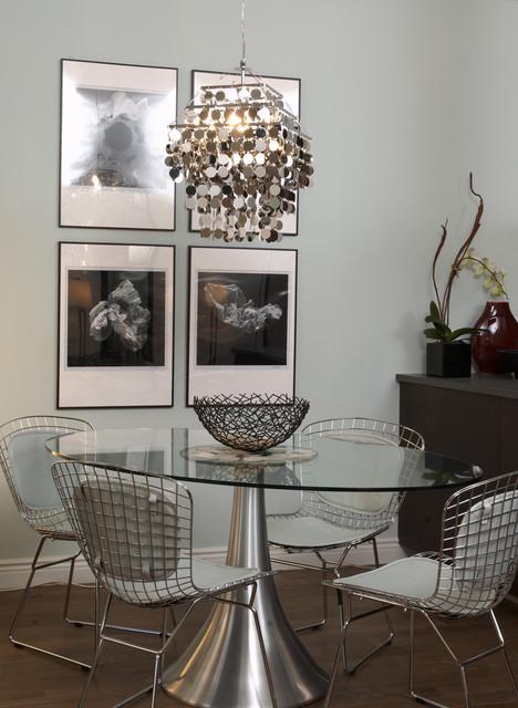 New york city apartment moderno sala da pranzo new for Sala new york