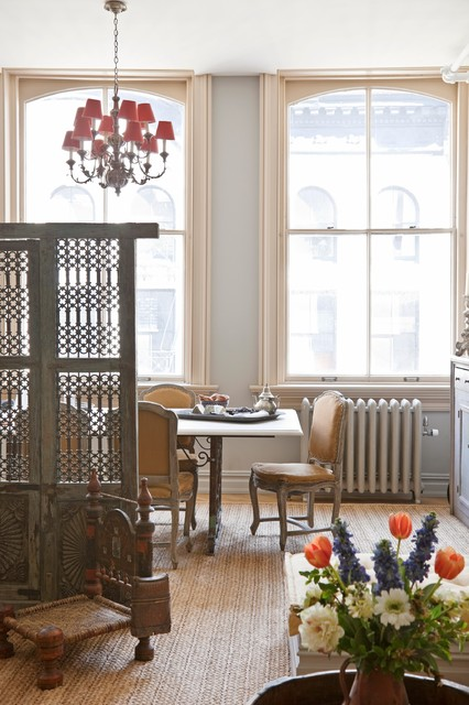 New York City Loft traditional dining room