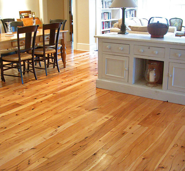 New york kitchen dining with reclaimed beech flooring for Kitchen dining room flooring