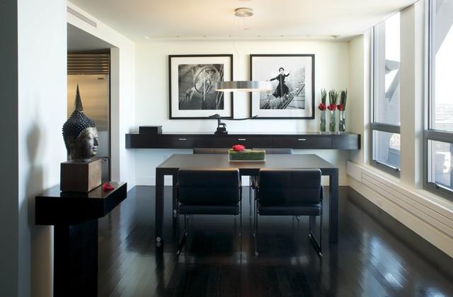 Newbury Street Penthouse contemporary-dining-room