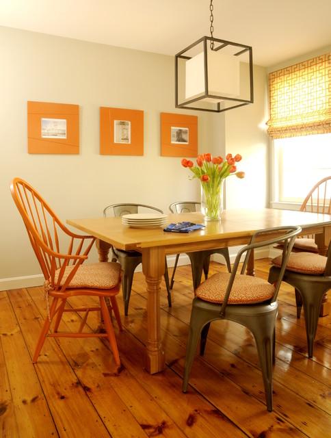 Newburyport Condo transitional-dining-room