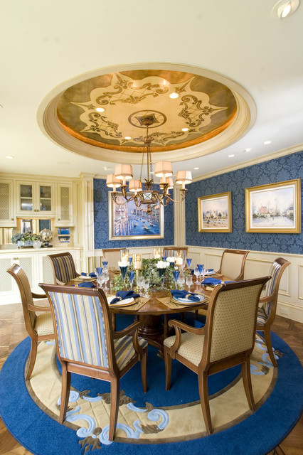 Newport Beach Custom Home traditional dining room