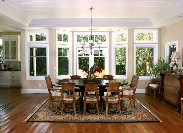 Newport Beach Plantation Style Traditional Dining Room