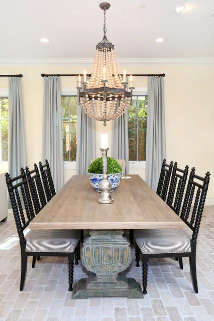 Newport Coast Beach Style Dining Room Orange County