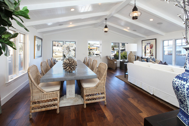 Newport Island Traditional Dining Room Orange County