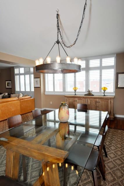 Newton Condo contemporary-dining-room