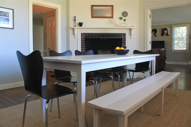 nick hollibaugh dining table and bench contemporary