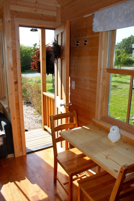 No. 1 Moschata Tiny House on Wheels traditional-dining-room
