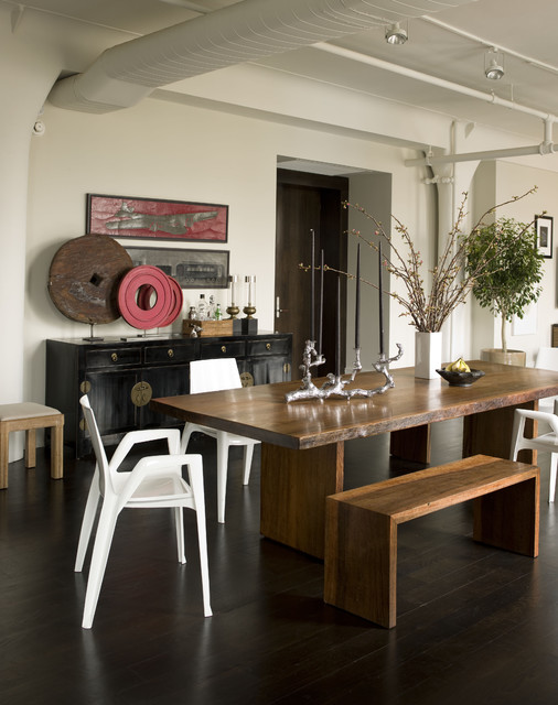 Noho Loft contemporary-dining-room