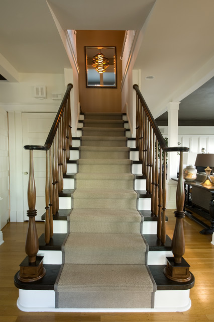 North End Entry Custom Stairs Transitional Dining