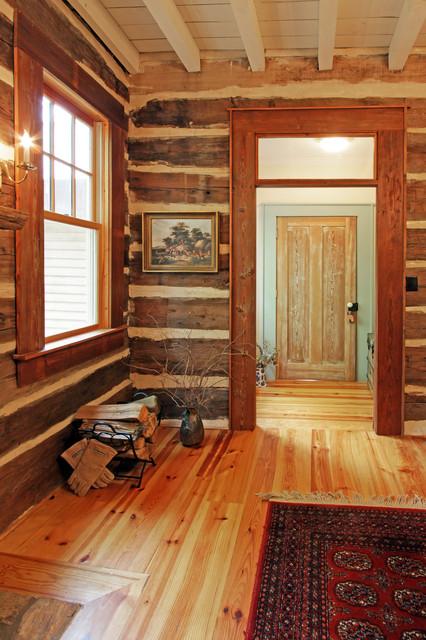 North Georgia Log Cabin Dining Room