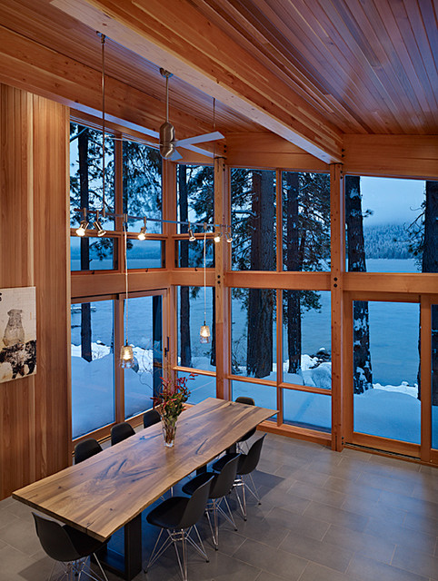 North Lake Wenatchee Cabin dining modern dining room