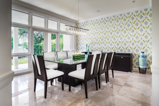 North Miami Beach House contemporary-dining-room