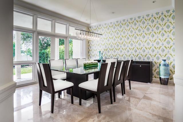 North Miami Beach House contemporary-dining-room