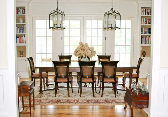 northern westchester country home traditional dining