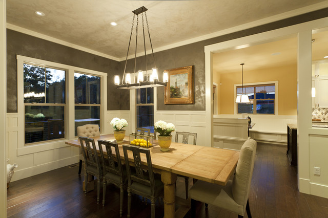 Northwest Craftsman Dining Room Traditional