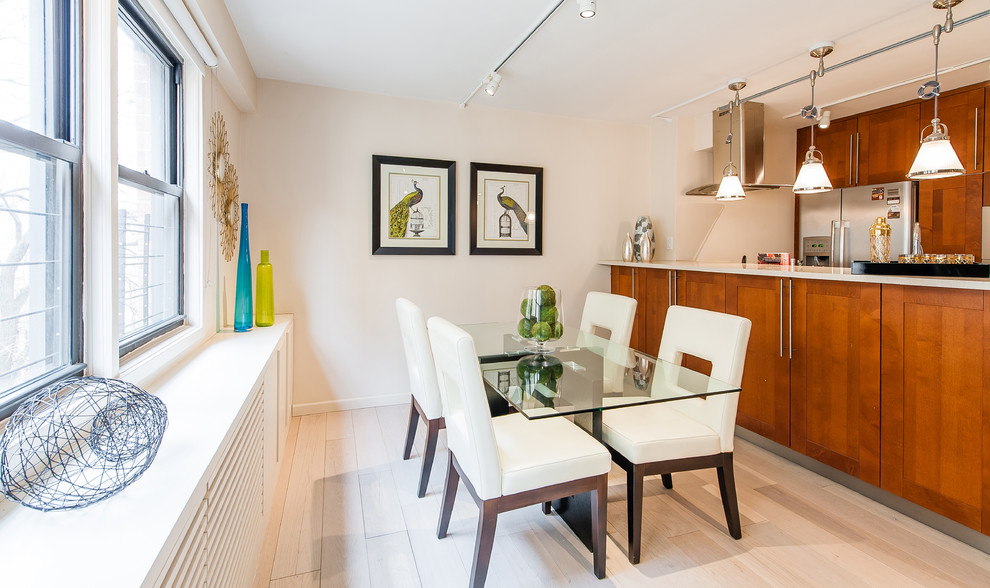 Inspiration for a dining room remodel in New York