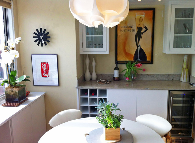 NYC Interior Design Modern Built In Cabinets Bar And