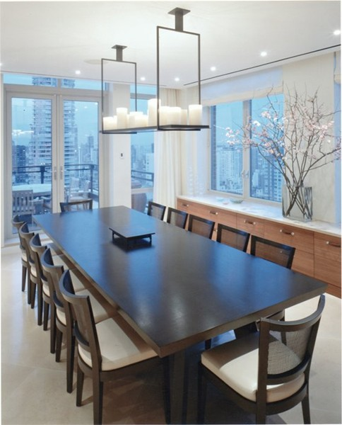 NYC Penthouse contemporary-dining-room