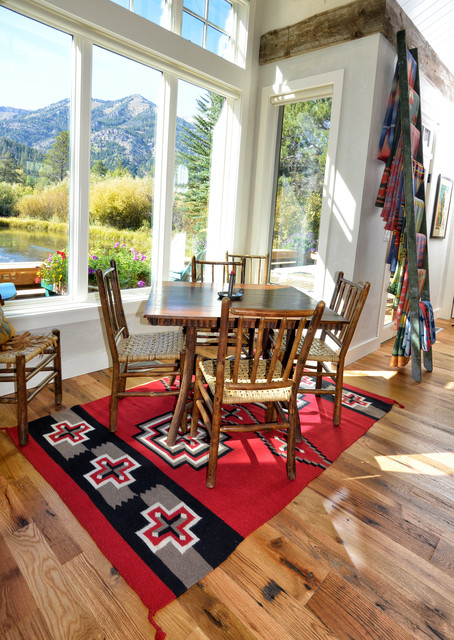 Oak Floor And Weathered Timbers Home In Jackson Wyoming