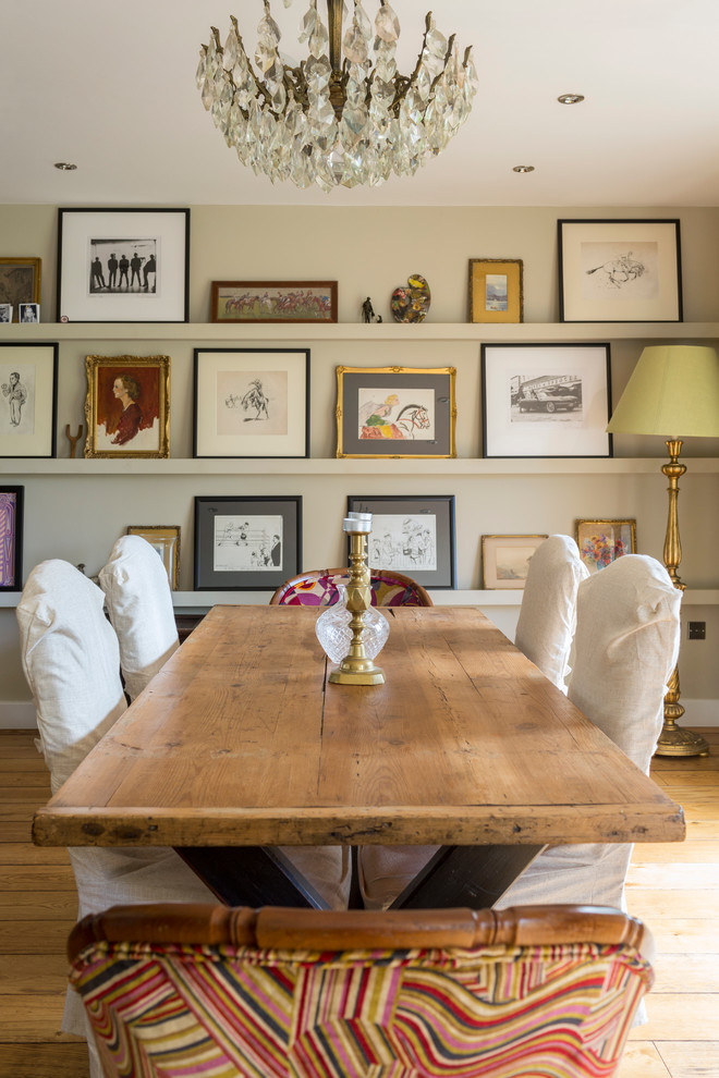 Mountain style dining room photo in Gloucestershire