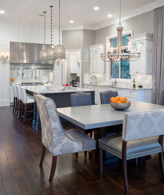 Oakland township new construction transitional dining - Oakland community college interior design ...