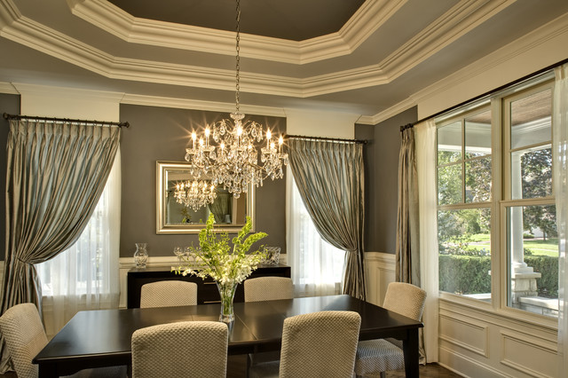 Oakley home builders for Dining room tray ceiling paint ideas