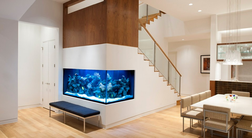 Beautiful Aquarium In Living Room Design Ideas
