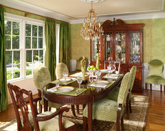 Oakton Residence traditional dining room