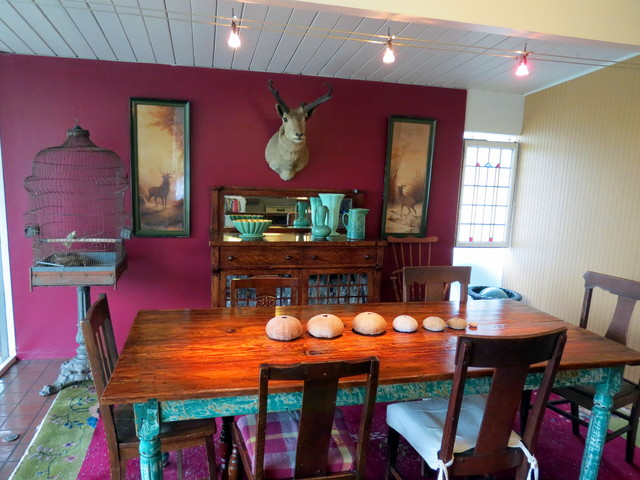 eclectic dining room by Lisa Hallett Taylor