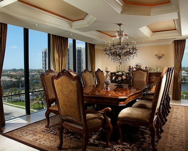 Ocean boulevard traditional dining room miami by for A rossi salon boca raton