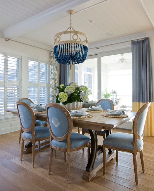 ocean front family home in bethany beach beach style dining room