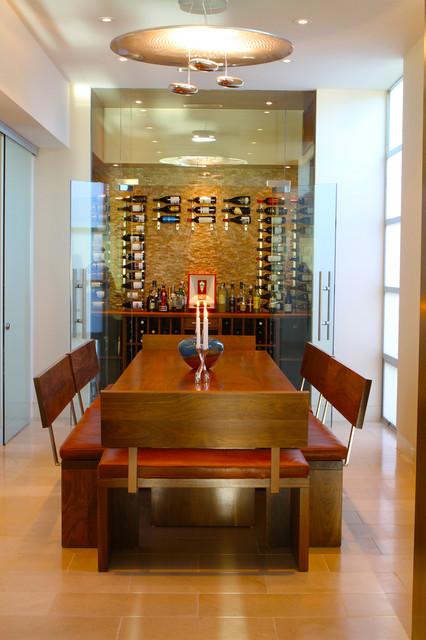 Ocean Front Walk contemporary-dining-room