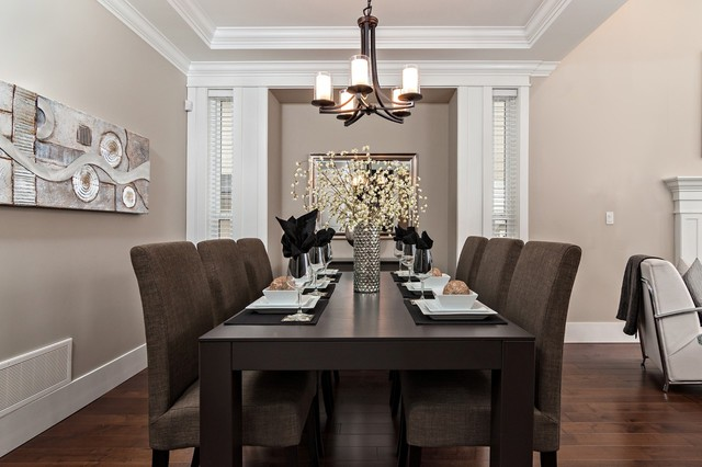 Ocean Park - Transitional - Dining Room - Vancouver - by Positive Space Staging + Design, Inc.